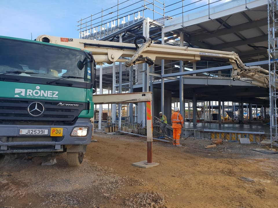 Ronez - Mesh Replacement Fibre Concrete used at the new Les